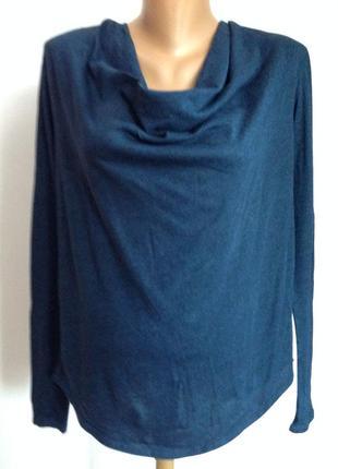 Фирменная комбинированная блузка- оверсайз/s/ brend maison scotch