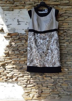 Прелестное котоновое на подкладке платье большого размера