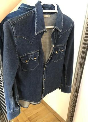 Джинсовая рубашка блуза zara mango levis оригинал s xs
