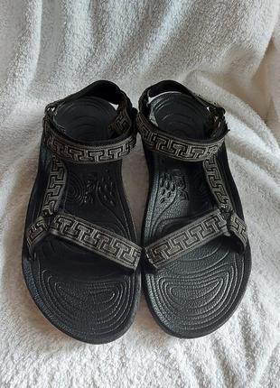 Босоножки сандали teva shoc pad 46p черные ортопедические