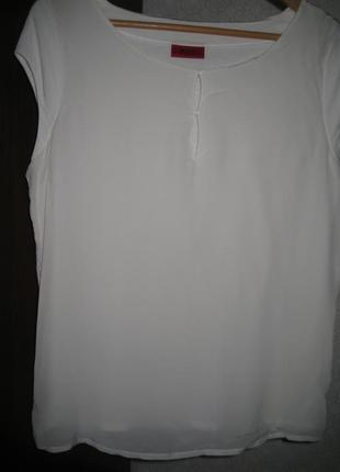 Белоснежная блуза из шелка hugo boss