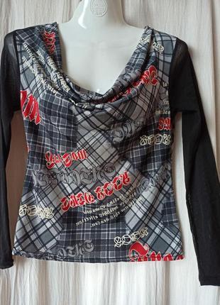 Легкая летняя полупрозрачная футболка с длинным рукавом charbell paris
