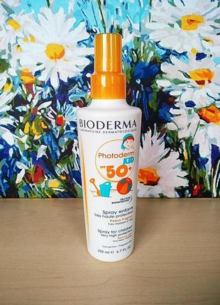 Bioderma photoderm kid spray spf 50+ солнцезащитный спрей для детей spf 50+