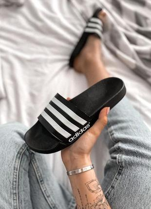 Шлепанцы adidas black  🌶