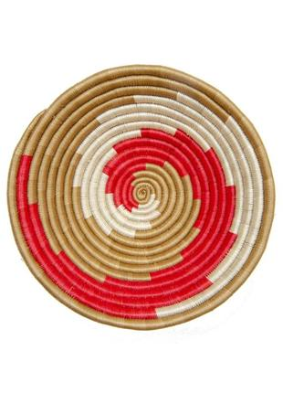 Африканская плетёная корзина из руанды домашний декор