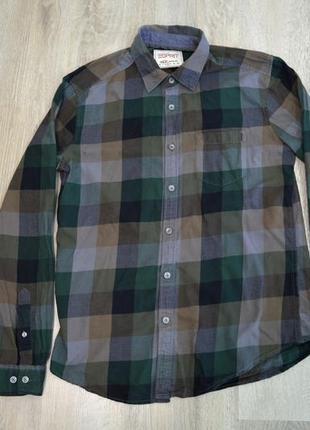 Рубашка esprit в клетку мужская размер l сорочка чоловіча