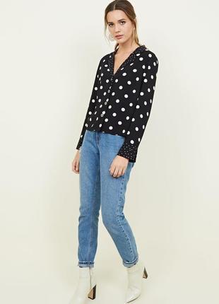 Блуза в пижамном стиле new look в горох