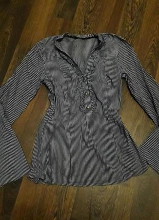 Блузка в полоску блуза рюши
