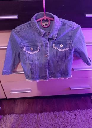 Джинсовая курточка на 1 год