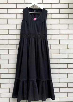 Новое,чёрное платье,сарафан,кружево,большой размер,хлопок,этно,бохо стиль