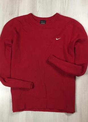 F7 свитер шерстяной nike golf найк красный кофта