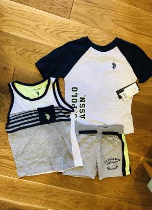 Літній спортивний комплект на хлопчика з 3 одиниць