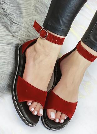 Босоножки сандали натуральный замш люкс качество