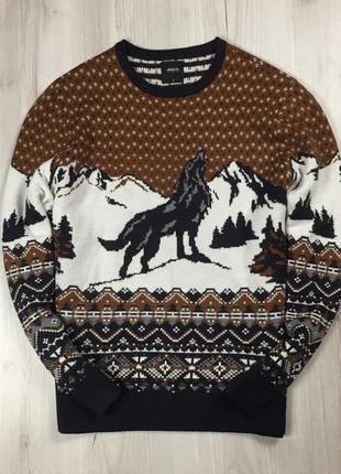 F7 свитер burton бёртон бартон с волком