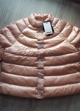 Новый непромокаемый пуховик mexx жемчужно-пудрового цвета. eu38 куртка