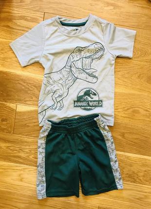Спортивний костюм з шортами з динозаврами