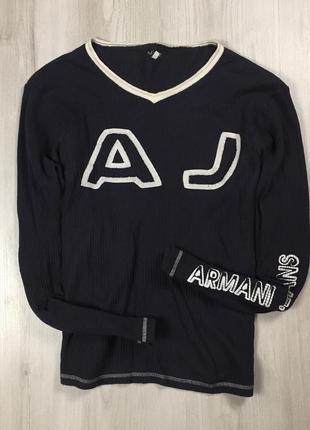 F8 лонгслив emporio armani jeans чёрный кофта армани