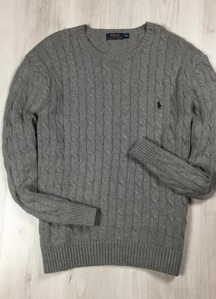 F7 свитер ralph lauren серый ральф лоурен