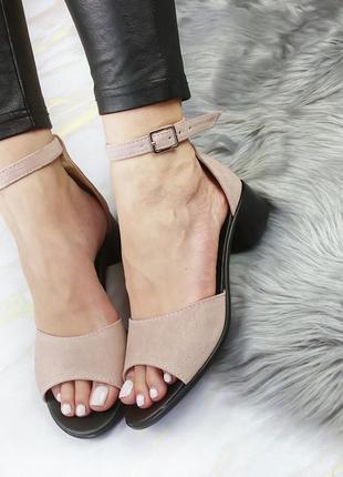 Босоножки - сандали натуральный замш супер удобные и легкие топ продаж