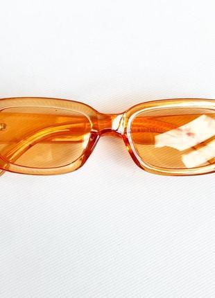 Оранжевые очки прямоугольные помаранчеві окуляри