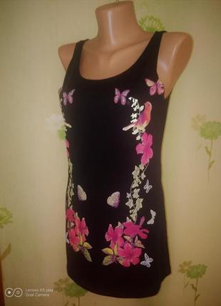 Шикарная маечка-туничка -платье -сарафан- xxs-xs-s--gina-
