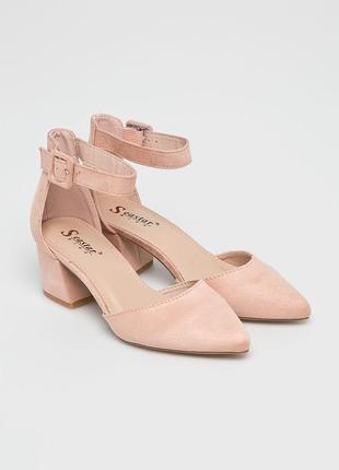 Стильные замшевые туфли босоножки seastar blue