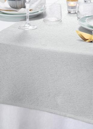 Скатерть-дорожка для сервировки стола, раннер с серебристым люрексом - tcm tchibo германия
