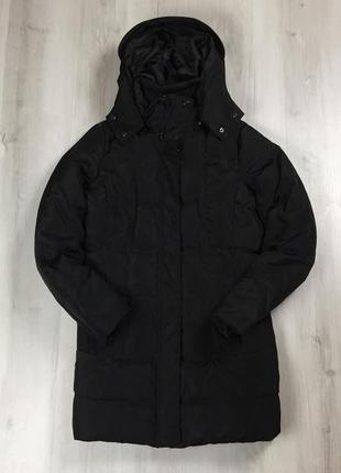 F9 n8 женский пуховик на гусином пуху zara basic чёрный куртка