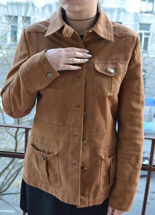 Крутая курточка next под замш