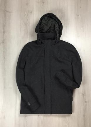 F9 серое пальто с капюшоном f&f