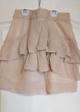 Красивая юбка с рюшами,воланами zara. размер м.
