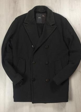 F9 шерстяное пальто g-star raw серое