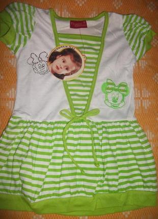 Платье туничка на девочку до 2 лет