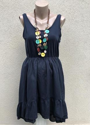 Платье-майка с воланами,рюшами по низу,сарафан удлиненный по спинке,этно,бохо стиль