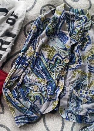 Лёгкий пиджак лен с трикотажем