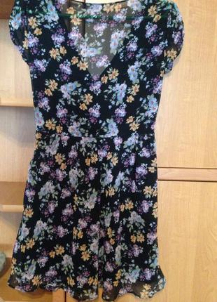 Платье zara с цветочным принтом
