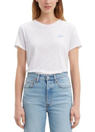 Levi's хлопковая белая футболка новая коллекция левис левайс оригинал