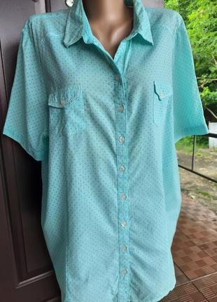 Легкая рубашка в мелкий горох