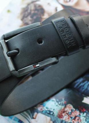 Модный ремень для джинсовtommy hilfiger черный