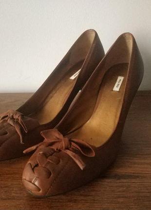 Miu miu туфли натуральная кожа размер 36