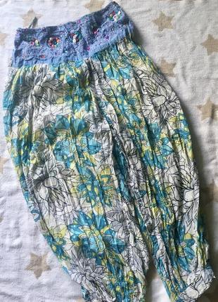 Индийские штаны-алладины на с-м