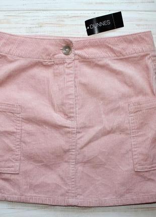 Новая вельветовая юбочка dunnes на 9лет