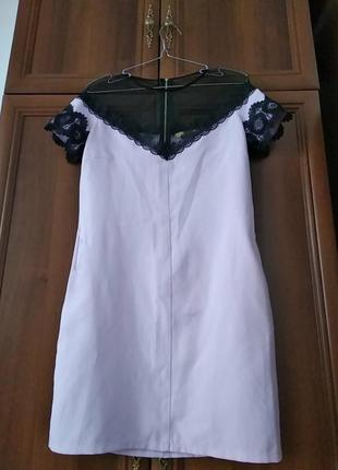 Платье свободного кроя с кармашками размер s