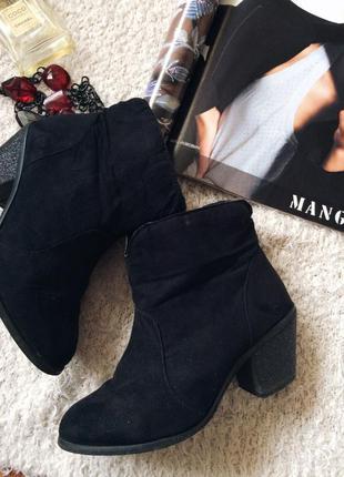 Осенние ботинки,сапожки с блестящим каблуком,сапожки на маленьком каблуке,замшевые сапоги
