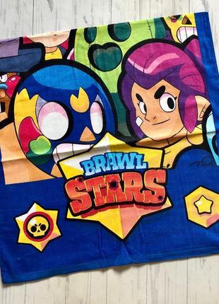 Полотенце детское пляжное в ассортименте  brawl stars super wings черепашки ниндзя минни