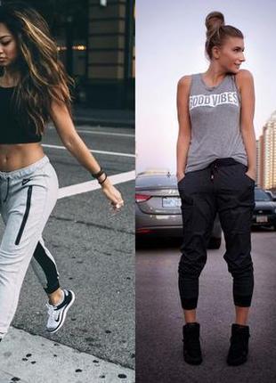 Актуальные укороченные спортивные штаны cali