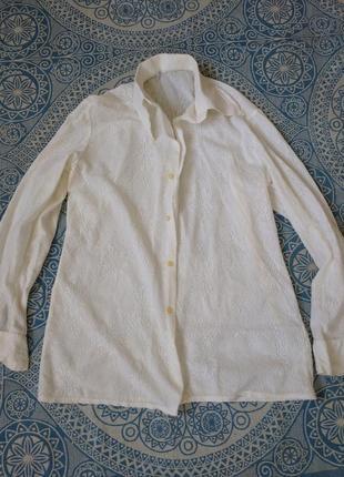 Винтажная гипюровая рубашка