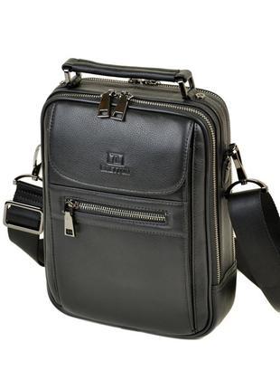 Мужская кожаная каркасная сумка-планшет