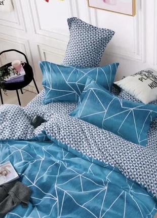 Качественные красивые комплекты постельного белья всех размеров, евро с 4 наволочками