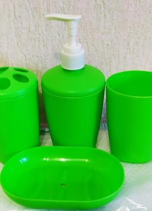 Набор для ванной мыльница стакан дозатор